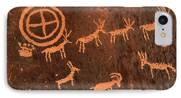 Ancient Indian Petroglyphs Phone Case by Gary Whitton