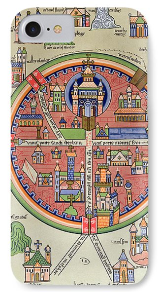 Ancient Map Of Jerusalem And Palestine IPhone Case