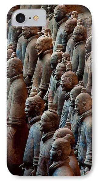 Ancient Soldier Statues Stand At Front Phone Case by O. Louis Mazzatenta