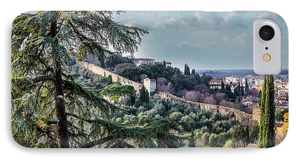 Ancient Walls Of Florence IPhone Case by Sonny Marcyan