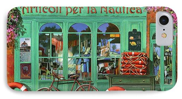 Ancora Una Bicicletta Rossa IPhone Case by Guido Borelli