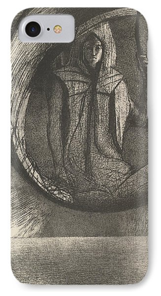 And Over There, The Astral Idol, The Apotheosis IPhone Case by Odilon Redon