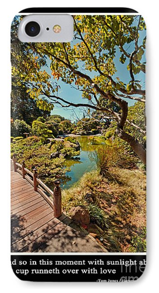 And So In This Moment With Sunlight Above IPhone 7 Case by Jim Fitzpatrick
