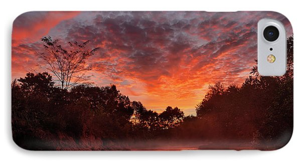 And The Day Begins IPhone Case by Robert Charity