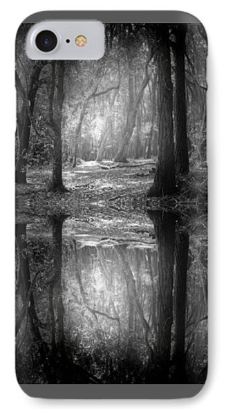 And There Is Light In This Dark Forest IPhone Case by Tara Turner