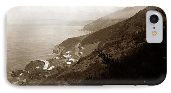 Anderson Creek Labor Camp Big Sur April 3 1931 IPhone Case by California Views Mr Pat Hathaway Archives