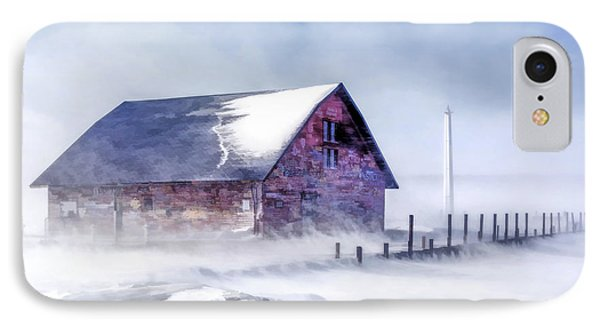 IPhone 7 Case featuring the painting Anderson Dock Winter Storm by Christopher Arndt