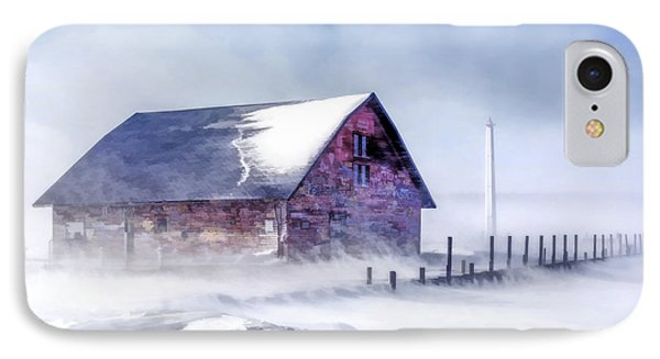IPhone Case featuring the painting Anderson Dock Winter Storm by Christopher Arndt