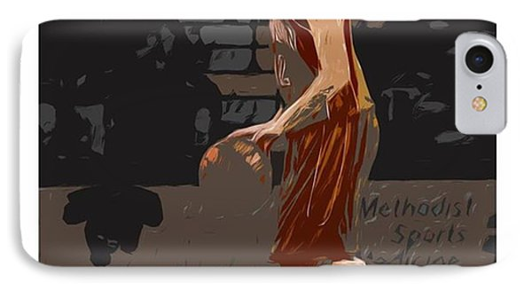 @andersonuniversity #indiana #painting IPhone Case by David Haskett
