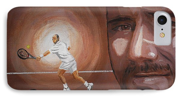 Andre Agassi IPhone Case by Quwatha Valentine