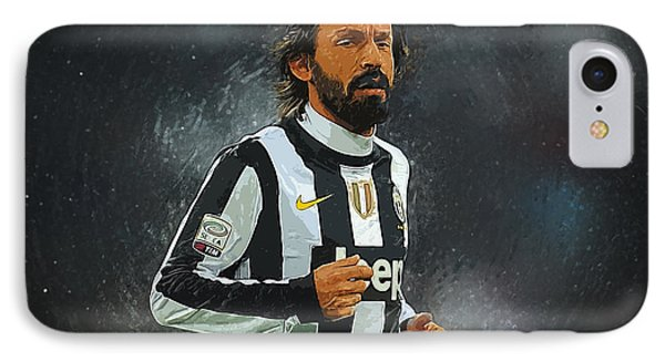 Andrea Pirlo IPhone Case by Semih Yurdabak