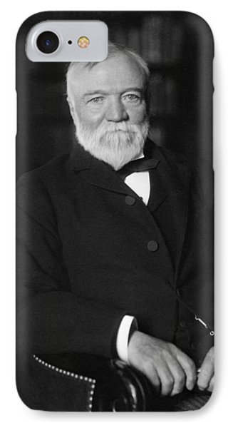 Andrew Carnegie Seated In A Library IPhone Case