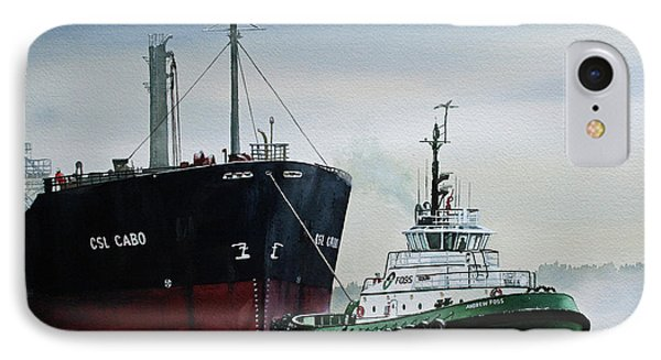 Andrew Foss Ship Assist Phone Case by James Williamson