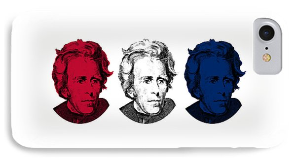 Andrew Jackson Red White And Blue Phone Case by War Is Hell Store