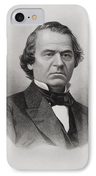 Andrew Johnson 1808 To 1875 IPhone Case by Vintage Design Pics
