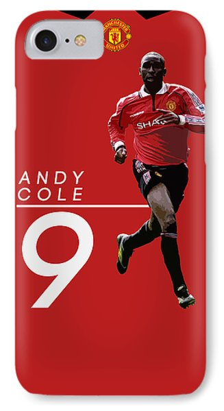 Wayne Rooney iPhone 7 Case - Andy Cole by Semih Yurdabak