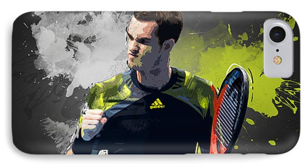 Andy Murray IPhone Case by Semih Yurdabak