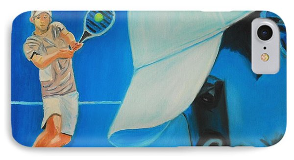 IPhone Case featuring the painting Andy Roddick by Quwatha Valentine