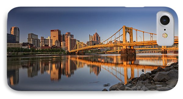 Andy Warhol Bridge IPhone Case by Rick Berk