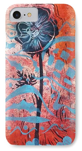 Anemone In Orange And Blue IPhone Case by Cynthia Lagoudakis