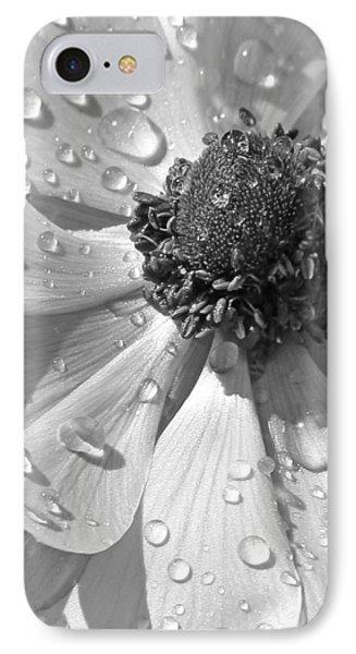 Anemone Poppy In Black And White Phone Case by Ben and Raisa Gertsberg
