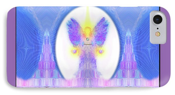 IPhone Case featuring the digital art Angel #200 by Barbara Tristan