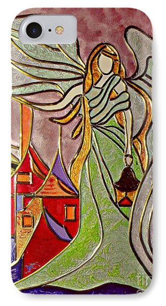 IPhone Case featuring the painting Angel  by AmaS Art