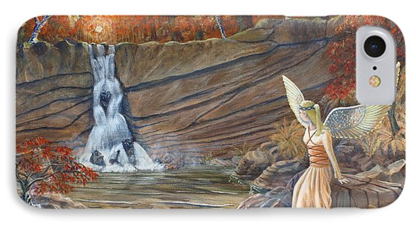 Angel At The Waterfall IPhone Case