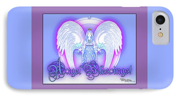 IPhone Case featuring the digital art Angel Blessings #196 by Barbara Tristan
