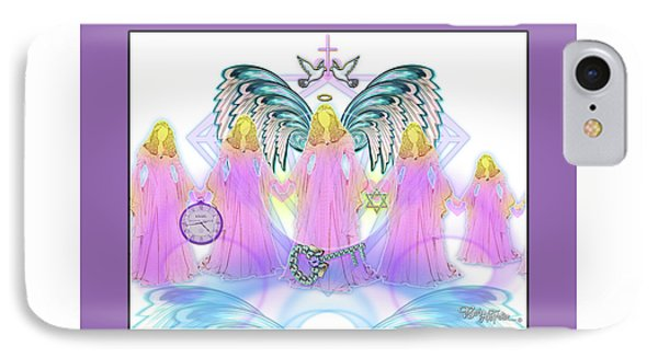 IPhone Case featuring the digital art Angel Cousins #198 by Barbara Tristan
