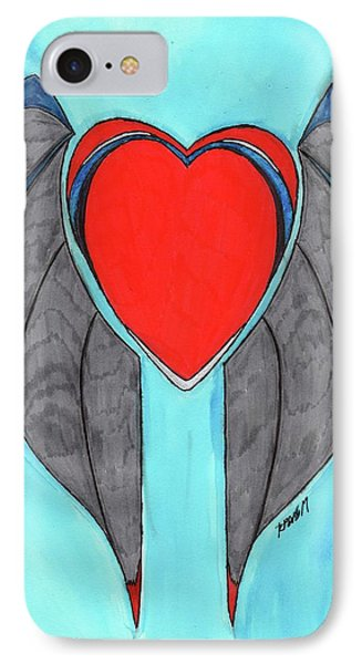 Angel Heart IPhone 7 Case by Ronald Woods