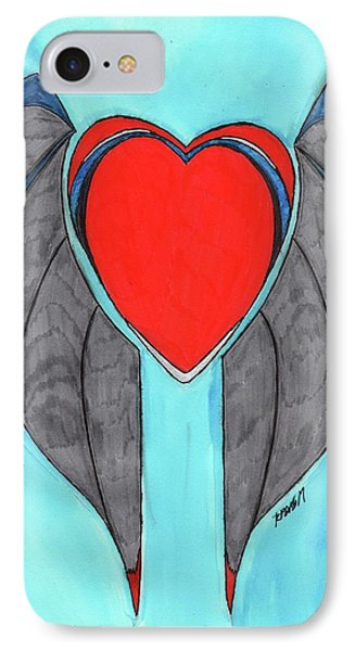 Angel Heart IPhone Case by Ronald Woods