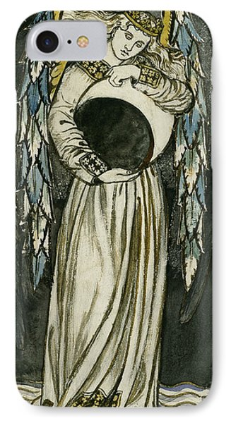 Angel Holding A Waning Moon IPhone Case
