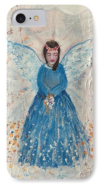 Angel In Blue Phone Case by Jun Jamosmos
