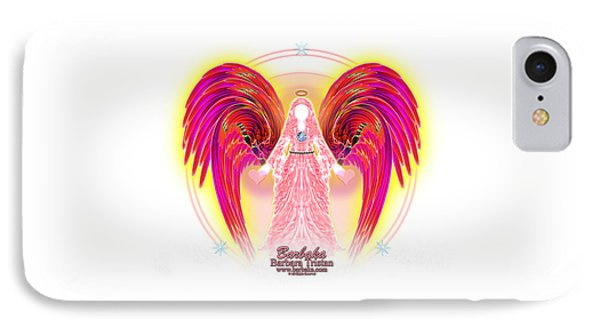 IPhone Case featuring the digital art Angel Intentions Divine Timing by Barbara Tristan