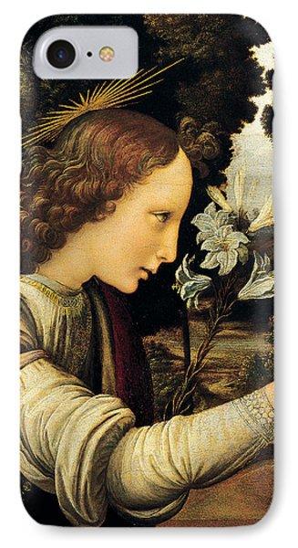 Angel IPhone Case by Leonardo Da Vinci