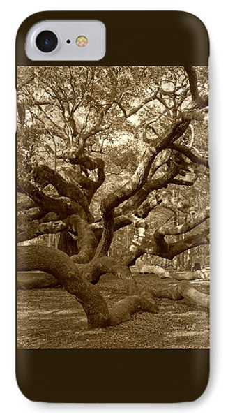 Angel Oak In Sepia Phone Case by Suzanne Gaff