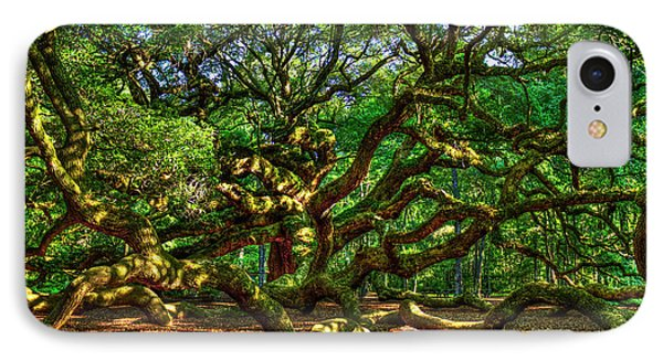 Angel Oak Morning Shadows Charleston South Carolina IPhone Case by Reid Callaway