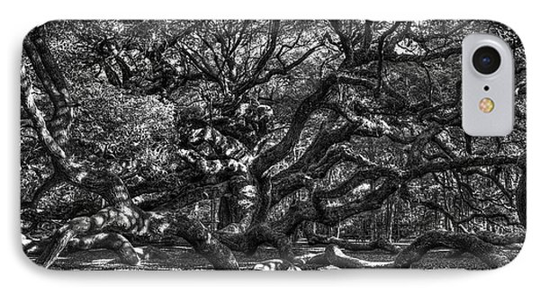 Angel Oak Spider Lights Johns Island Art Charleston South Carolina IPhone Case by Reid Callaway
