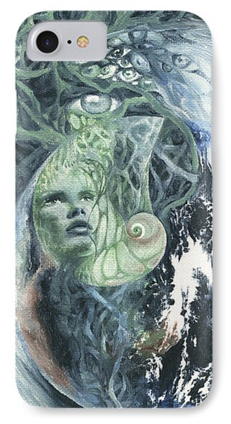 IPhone Case featuring the painting Angel Of Peace by Ragen Mendenhall