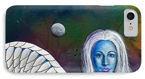 Angel Of The Shepherd Moon Phone Case by Lee Pantas