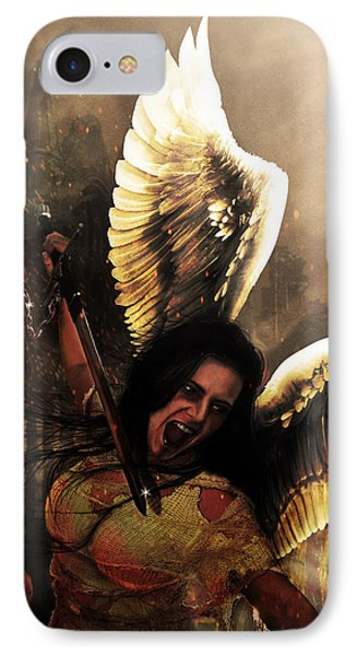 Angel Of Vengeance IPhone Case by Jeremy Martinson