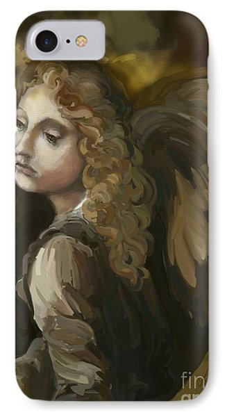 Angel On The Rocks IPhone Case by Carrie Joy Byrnes