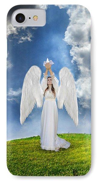 Angel Releasing A Dove Phone Case by Jill Battaglia