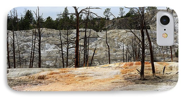 Angel Terrace At Mammoth Hot Springs Yellowstone National Park Phone Case by Louise Heusinkveld