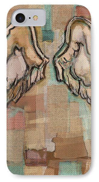 IPhone Case featuring the painting Angel Wings by Carrie Joy Byrnes