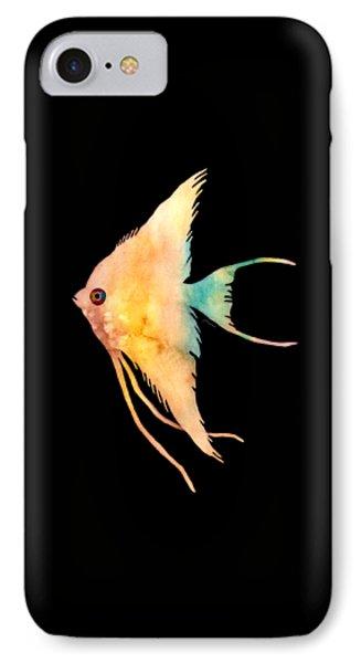 Angelfish II - Solid Background IPhone Case by Hailey E Herrera