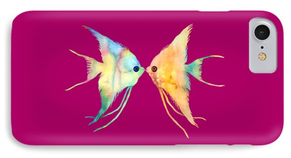 Angelfish Kissing IPhone Case