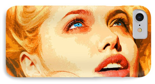 IPhone Case featuring the digital art Angelina by John Keaton