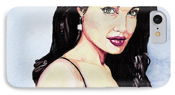 Angelina Jolie Portrait IPhone Case